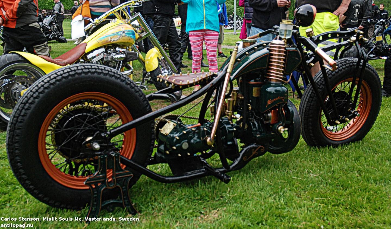 Misfit Souls Mc Второе место в категории мотоциклов Кастом на кастомбайк-шоу в Норртелье 2013