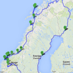 Маршрут поездки по Норвегии на автомобиле 2013 год